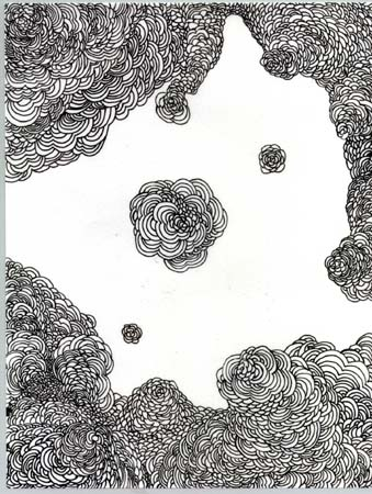 Untitled Drawing (growth on vellum)